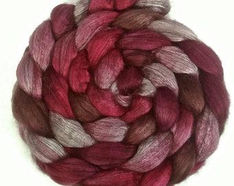 Handpainted Yak Silk Roving - 4 oz. VICTORIA - Spinning Fiber