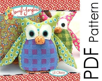 PDF Owl Sewing Pattern - Lil Okey