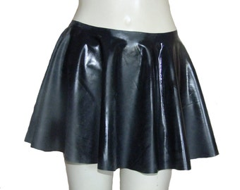 """Rubber Skating Skirt (Black or Pink) Circular Mini, Size M/L (30-34"""" / 76 to 86cm Waist) Latex/Silicone Mix"""