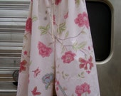 RESERVED Upcycled  Pillowcase Pajama/Lounge Pants to fit Woman XS-Medium