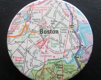 Boston Map Magnet