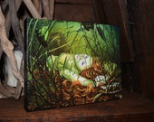 RW2 Mermaid embellished Canvas print by Robert Walker painting VERY Limited Edition