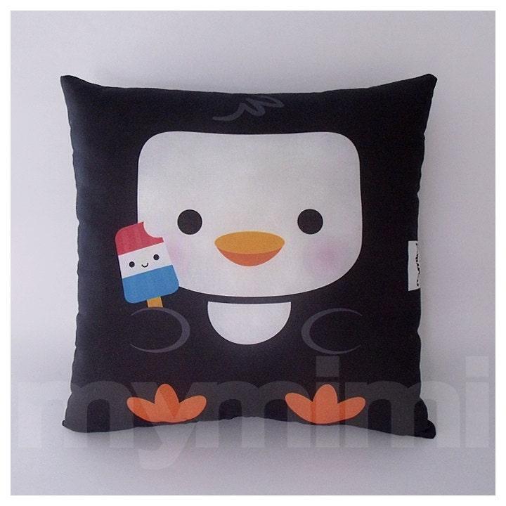 Animal Pillows For Nursery : 12 x 12 Penguin Animal Pillow Nursery Room Decor