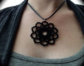 Tatted Lace Pendant  - Woven Rose - Choose Your Color