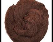 ON SALE Wool-Camel Blend Hand-plied 3-ply Sock Yarn - Chocolate - 3.15 oz - 89 g - 412 yds - 376 m