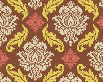 True Colors by Joel Dewberry  / Damask in Maple /  1 yard Cotton Quilt/Apparel Fabric