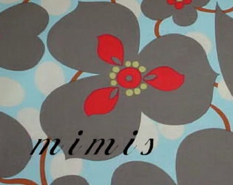 Morning Glory in Linen  by  Amy Butler Fabric / 1 Yd Cotton Quilt Apparel Fabric Lotus Prints