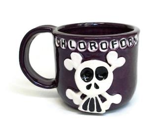 Ceramic Mug - Dark Purple CHLOROFORM - Skully Mug