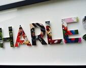 7 letters- CUSTOM superhero alphabet letters