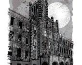 Waverly Hills - Screenprinted Art Print