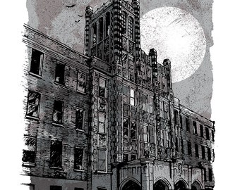 Waverly Hills - Screenprinted Art Print