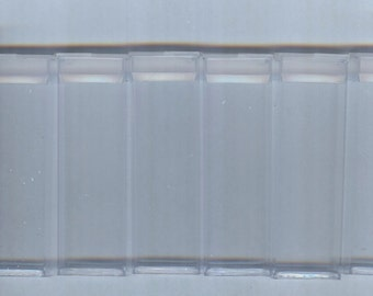 Clear Rigid Plastic Storage Tubes - Perfect for Beads and Findings 6 pcs