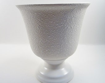 Vintage Off White Speckled Planter - Retro Cream Vase