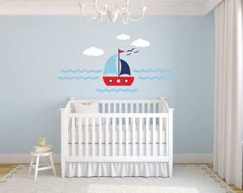 Sail Away Wall Decal Set