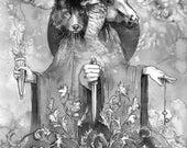 Hecate- Goddess illustration print in multiple sizes