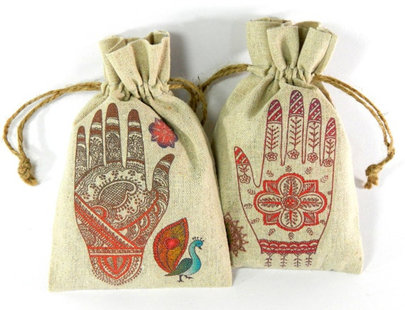 Asian Mehndi Party : Items similar to wedding favor bags mehndi party south