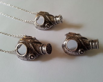 Empty child gas mask necklace ~a must have for all whovians~