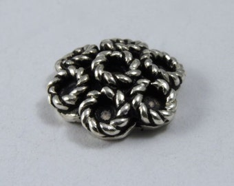 10mm Indian Sterling Floral Bead Cap (2 Pcs) #INS117