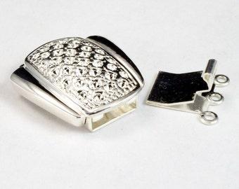 25mm Silver 3 Strand Clasp #2628