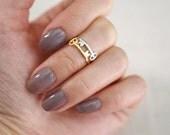 skeleton key midi ring . tiny skeleton key ring . tiny key ring . stackable key ring . secret key ring . key knuckle ring // 4SKEY