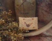 Primitive Gobble Thanksgiving Pillow Tuck Cross Stitch E Pattern PDF