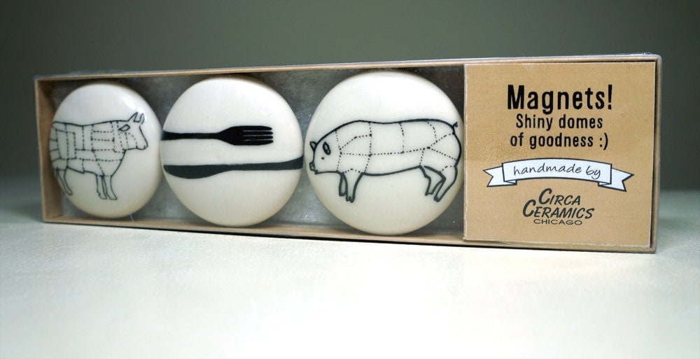 magnet set for carnivores. (3pk)