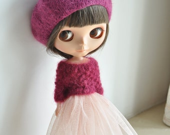 Babydoll TUTU Skirt for Blythe-incarnadine
