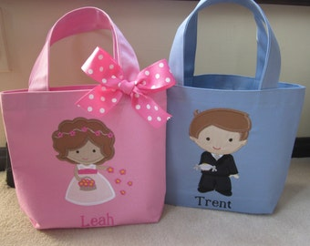 TOTE BAG Flower Girl or Ring Bearer Girl Personalized Toddler or Big Kid Tote