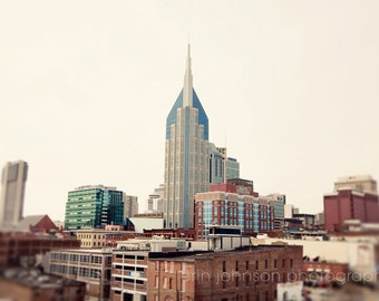 Nashville photography, cityscape, architecture, old buildings, downtown nashville, tennessee, fine art, nashville art, View of the City