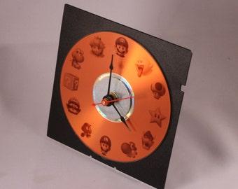 Laser etched tribute to Super Mario desk clock