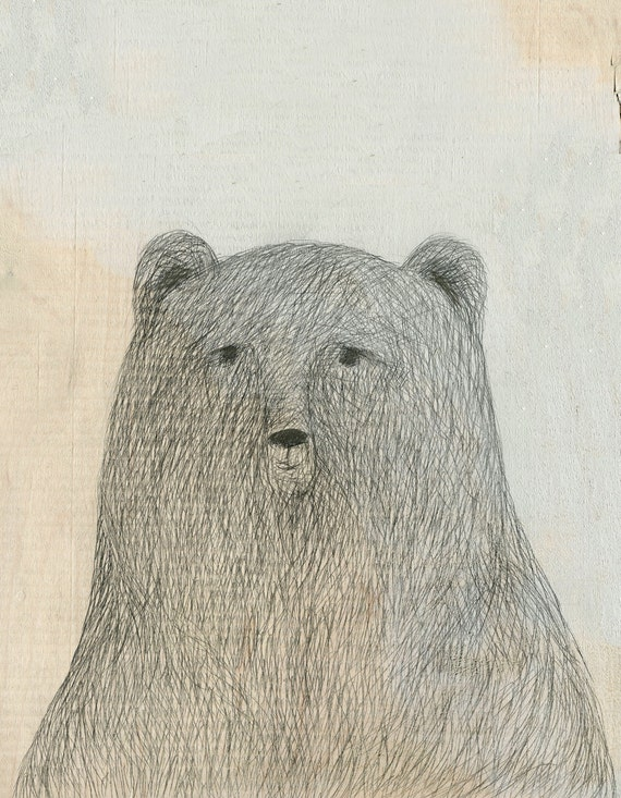 Grizzly Bear Signed Art Print