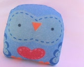 "cute mini owl -- "" öökull "" (blue) -- charm /softie/ ornament/ decoration/plush owl decor/ kawaii-- ( ship in 1 day )"