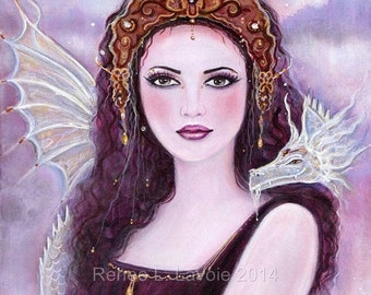 Greek goddess Demeter with dragon  by Renee L. Lavoie