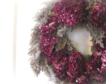 MARILYN   WREATH  romantic dried flowers