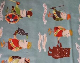 The Vikings  Alexander Henry Fabric Light Blue 1 yard