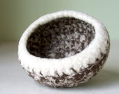 Bowl - Felted Wool in Ivory Heather