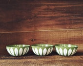"Set of 3 green Catherineholm 4"" bowls"
