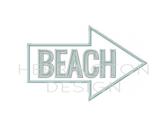Beach house embroidery applique throw pillow towels for Beach house embroidery design