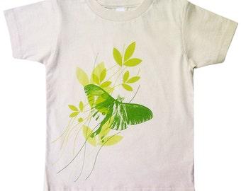 Hipster kids, Kids Tshirt, Gender neutral, Unisex Clothing, Toddler, Cool kids, Tops, Luna Moth Organic T-shirt, Kids Tee, Kids T-shirt