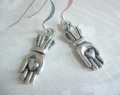 Irish Claddagh Earrings Hand Heart Earrings Love Earrings Hands Earrings Hand Charm Earrings Hand Amulet Earrings Gifts for Women Friends