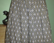 SALE 1950s Atomic Yellow Diamonds Black Cotton Full Skirt Vintage Small Waist 26 Rockabilly Pin Up Viva Las Vegas Eams Era
