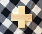 Wood Swiss Cross, Plus Sign, Wall Decor