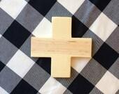 Wood Swiss Cross, Plus Sign, Wall Decor
