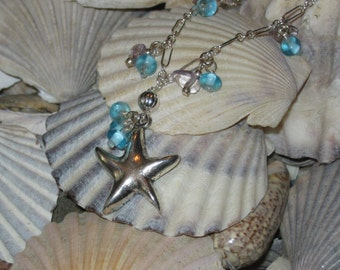 Silver Starfish Necklace - Free Shipping