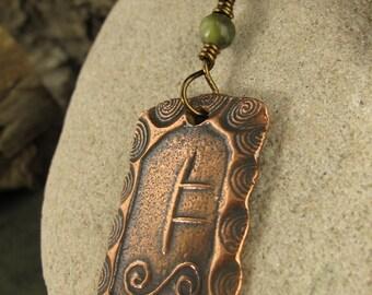 Rowan Tree, Connemara Marble, Celtic Jewelry, Celtic Tree Astrology, Copper Rowan Tree, Ogham Pendant, Celtic Trees, Irish Celtic Jewelry