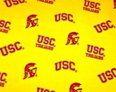 Square Ceiling Light Cover made with USC Trojans NCAA licensed materials Pull-Chain OPTION