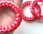 Cat Toys Ferret Toys Recycled Rings Toy Red Pink
