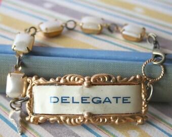 Delegate Badge Cuff Bracelet