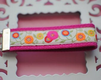 Bright Flowers Key Fob