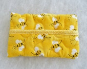 Tissue Holder Quilted - Bumblebees 2